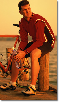 exercise, water, dock, bicycle