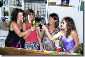 women drinking alcohol