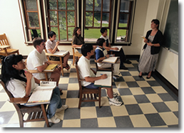 classroom, students, teacher, school