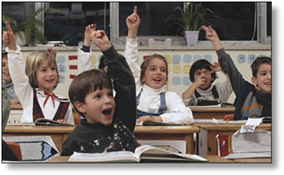 children eager to learn