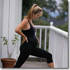 pregnant woman, exercise, healthy