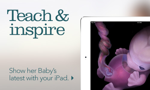 Teach and inspire. Show her Baby's latest with your tablet.