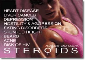 steroid in women