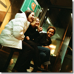 women laughing, friends